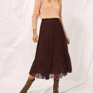 Wilfred Twirl Skirt, Burgundy, XS